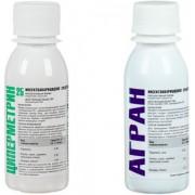 Агран 100 мл + Циперметрин 25% 100 мл. Набор средств от клопов, тараканов, блох, муравьев, мух, ос. Флаконы по 100 мл