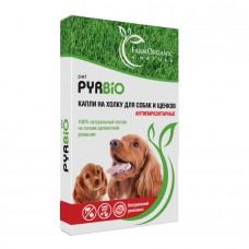Антипаразитарные капли на холку для собак и щенков PIRBIO pet